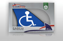 Handicap Blue Car Flag CARFIN , Magnetic Car signs. - Carfin