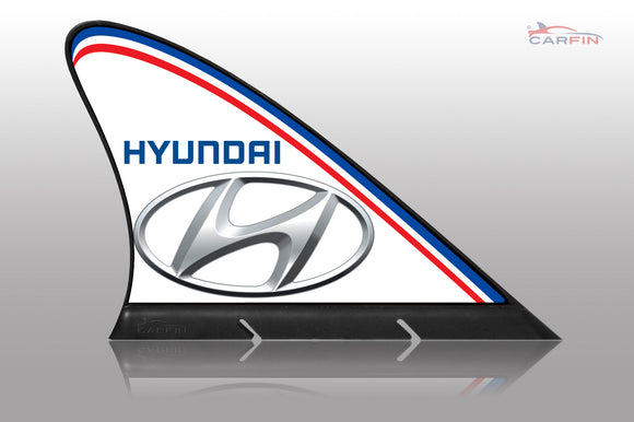 Hyundai Car Flag CARFIN , Magnetic Car signs. - Carfin