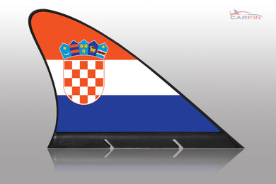 Croatia  Car Flag CARFIN , Magnetic Car flags and signs. - Carfin