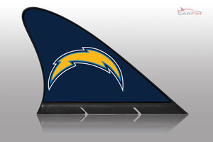 Los Angeles Chargers Car Flag, CARFIN  Magnetic Car Flag.