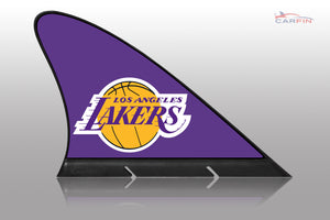 Los Angeles LA Lakers Car Flag, CARFIN  Magnetic Car Flag.