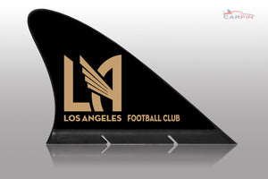 Los Angeles LA Soccer Car Flag, CARFIN  Magnetic Car Flag.