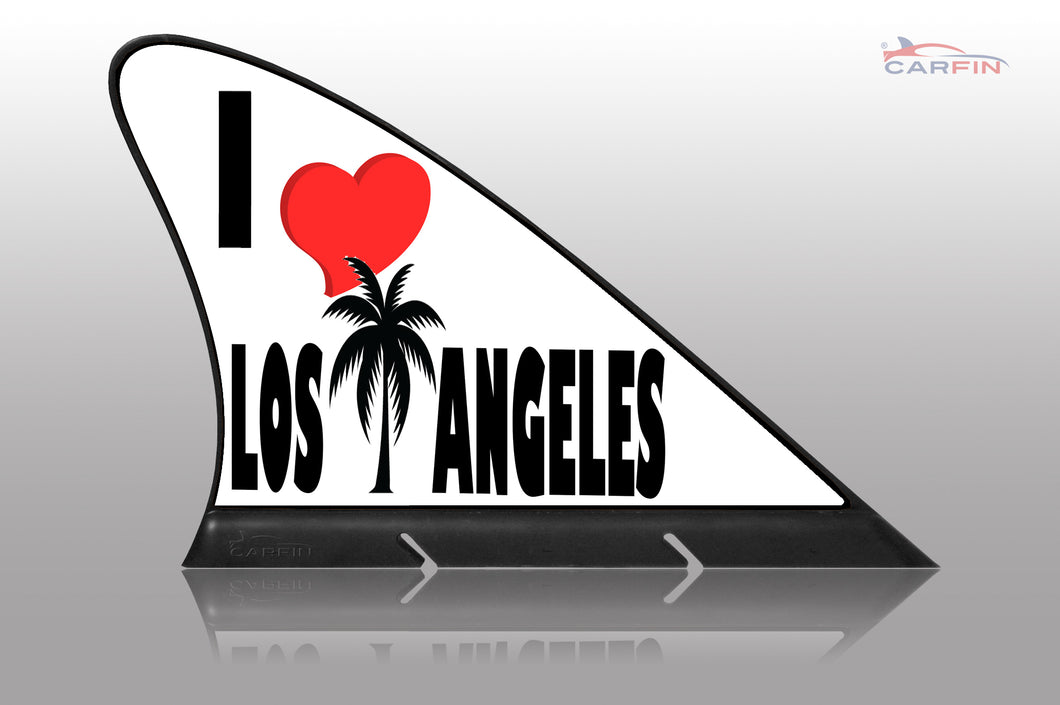 I Love Los Angeles Car Flag CARFIN , Magnetic Car signs.