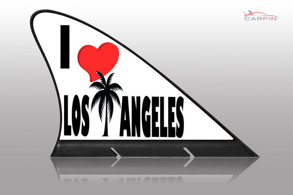 I Love Los Angeles Car Flag CARFIN , Magnetic Car signs. - Carfin