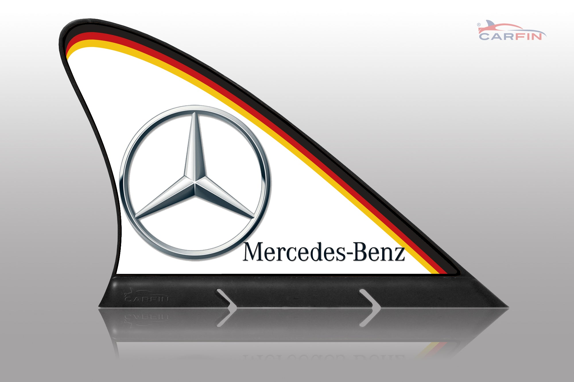 Carfin mercedes benz car flag carfin magnetic car signs