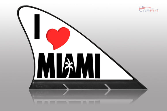 I Love Miami Car Flag CARFIN , Magnetic Car signs. - Carfin