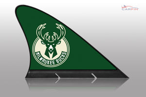 Milwaukee Bucks Car Flag, CARFIN  Magnetic Car Flag.