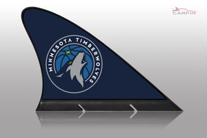 Minnesota Timberwolves Car Flag, CARFIN  Magnetic Car Flag.