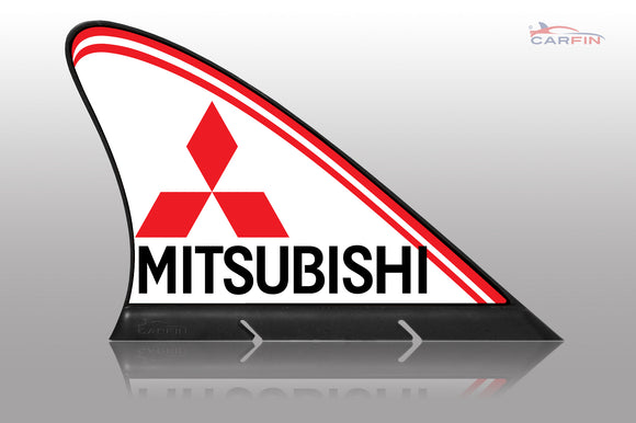 Mitsubishi  Car Flag CARFIN , Magnetic Car signs. - Carfin