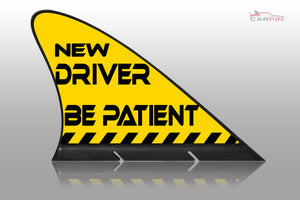 New Driver  Car Flag CARFIN , Magnetic Car signs. - Carfin