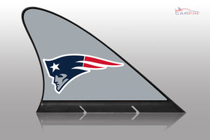 New England Patriots Car Flag, CARFIN  Magnetic Car Flag.