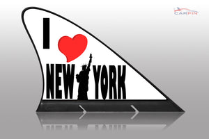 I Love New York Car Flag CARFIN , Magnetic Car signs. - Carfin