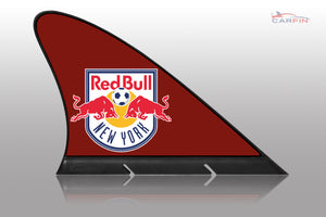 New York Red Bulls Car Flag, CARFIN  Magnetic Car Flag. - Carfin