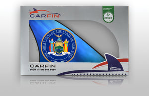 New york Car Flag CARFIN , Magnetic Car signs. - Carfin