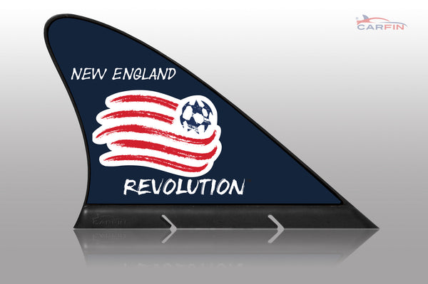 New England Revolution Car Flag, CARFIN  Magnetic Car Flag. - Carfin