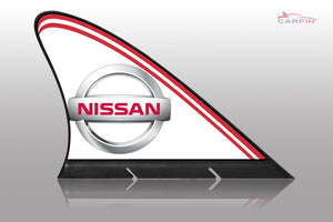 Nissan  Car Flag CARFIN , Magnetic Car signs.