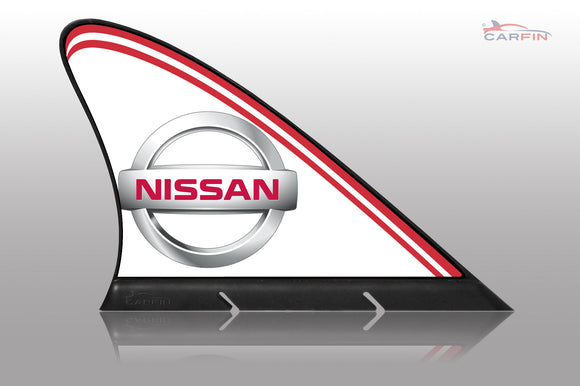 Nissan  Car Flag CARFIN , Magnetic Car signs. - Carfin