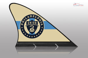 Philadelphia Union Car Flag, CARFIN  Magnetic Car Flag. - Carfin