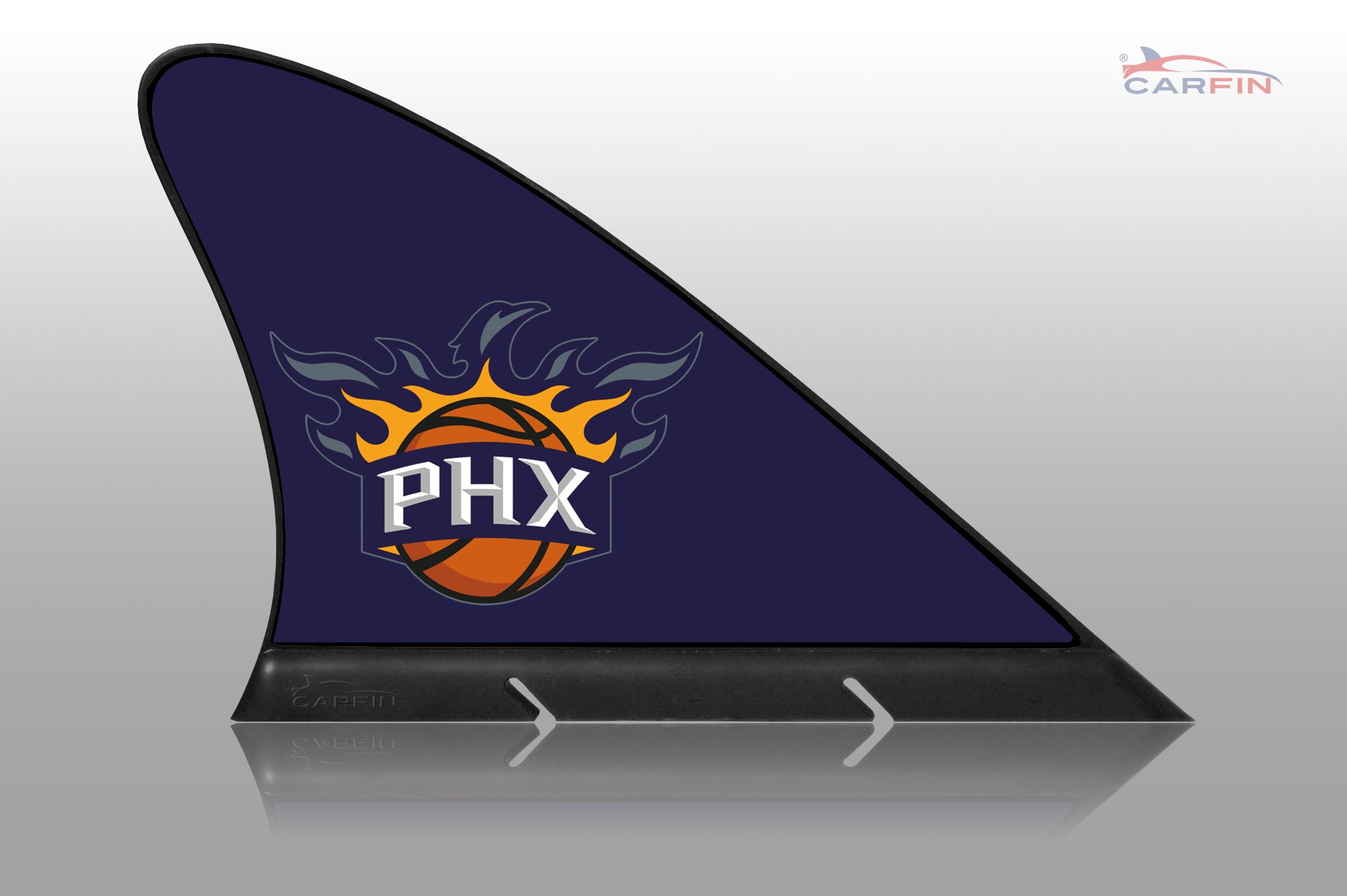 Phoenix Suns  Car Flag, CARFIN  Magnetic Car Flag. - Carfin