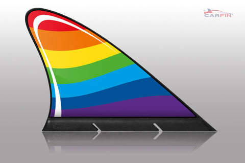 Rainbow Car Magnetic Flags and Car Signs - Carfin
