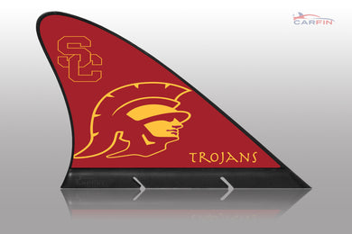 USC University of Southern California Car Flag, CARFIN  Magnetic Car Flag.