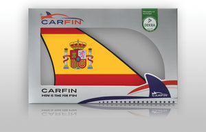 Spain Car Flag CARFIN , Magnetic Car flags and signs. - Carfin
