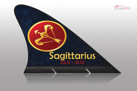 Sagittarius  Car Flag CARFIN , Magnetic Car signs. - Carfin