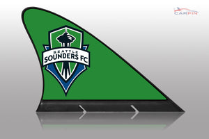 Seattle Sounders FC Car Flag, CARFIN  Magnetic Car Flag.