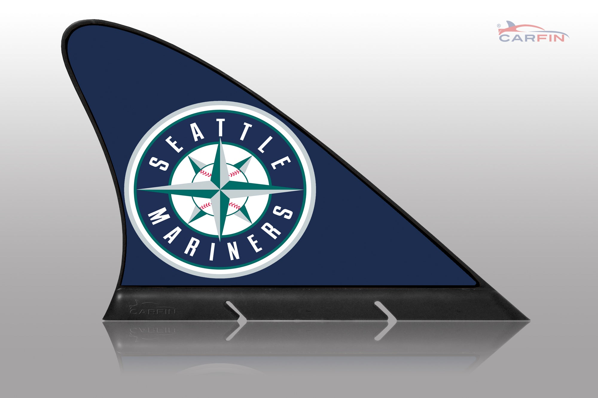 Seattle Mariners Car Flag, CARFIN  Magnetic Car Flag. - Carfin