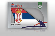 Serbia Car Flag CARFIN , Magnetic Car flags and signs. - Carfin