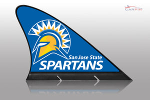 San Jose State University Car Flag, CARFIN  Magnetic Car Flag.