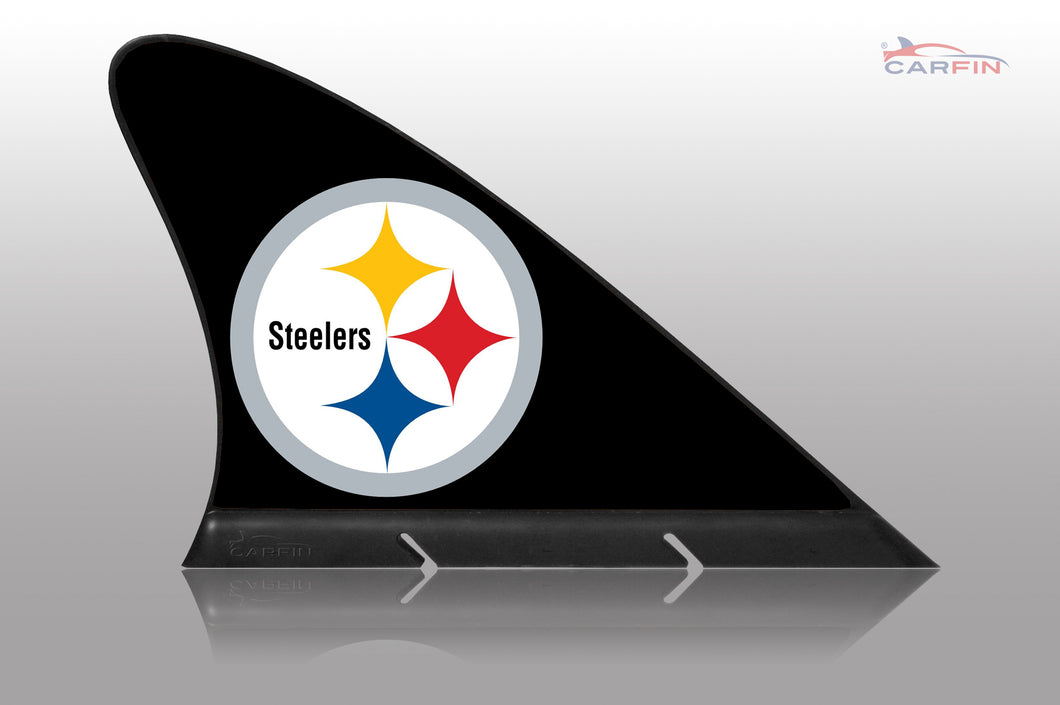 Pittsburgh Steelers Car Flag, CARFIN  Magnetic Car Flag.