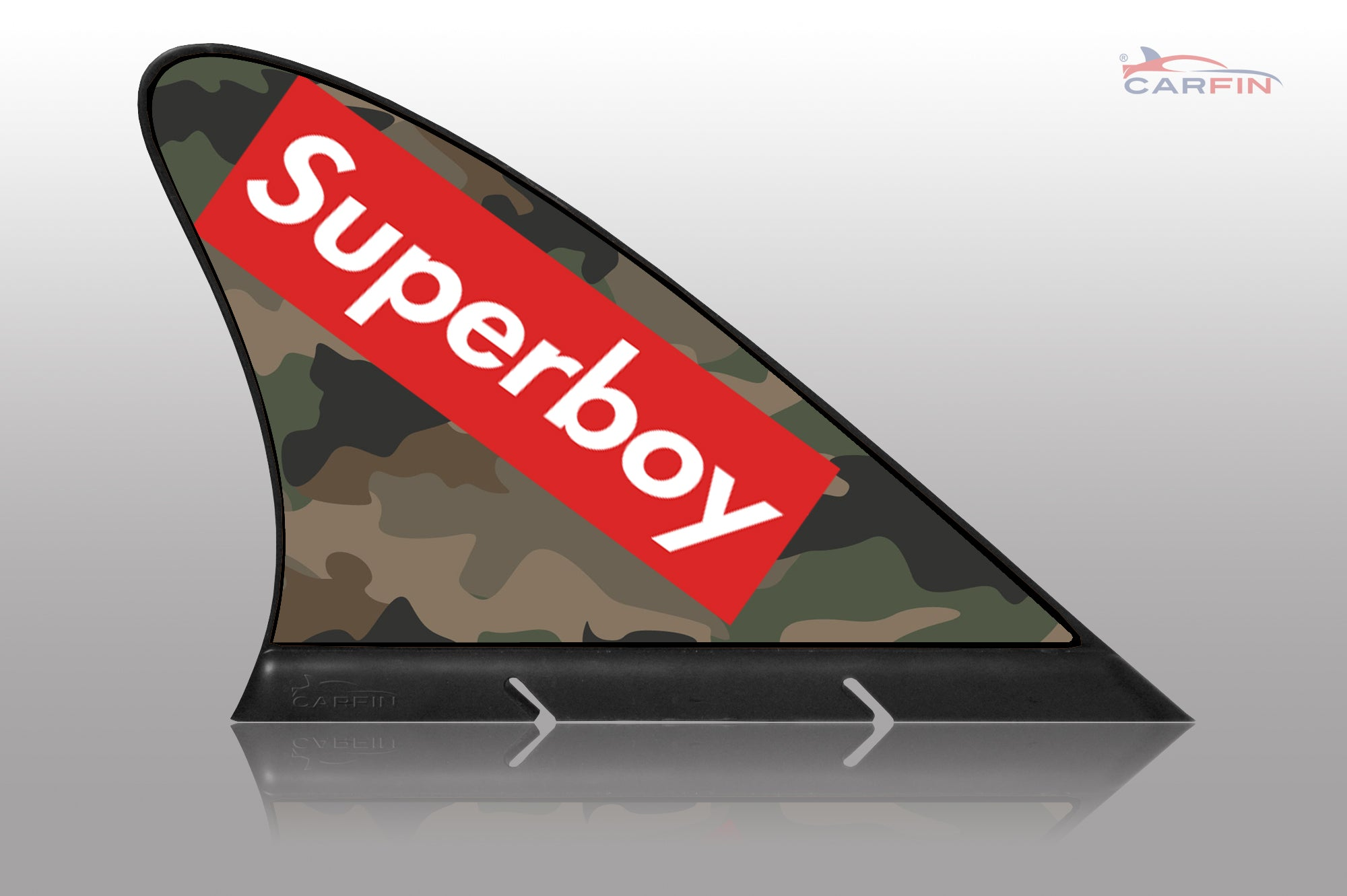 Super Boy Car Flag CARFIN , Magnetic Car signs. - Carfin