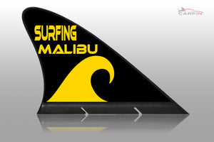 Surfing Malibu Car Flag CARFIN , Magnetic Car signs. - Carfin