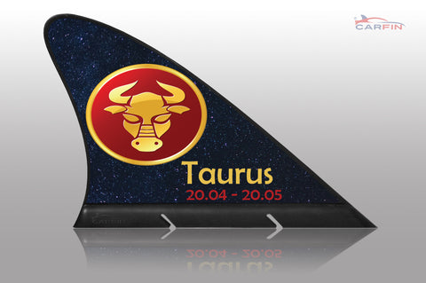 Taurus Car Flag CARFIN , Magnetic Car signs. - Carfin
