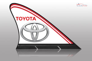 Toyota Car Flag CARFIN , Magnetic Car signs.