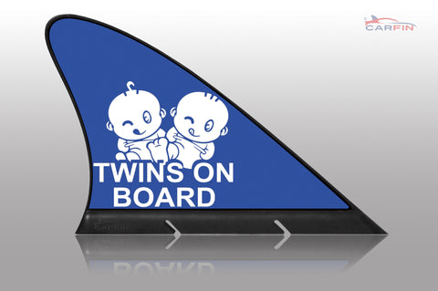 Boy Twins on Board Car Signs and Car Magnetic Flags