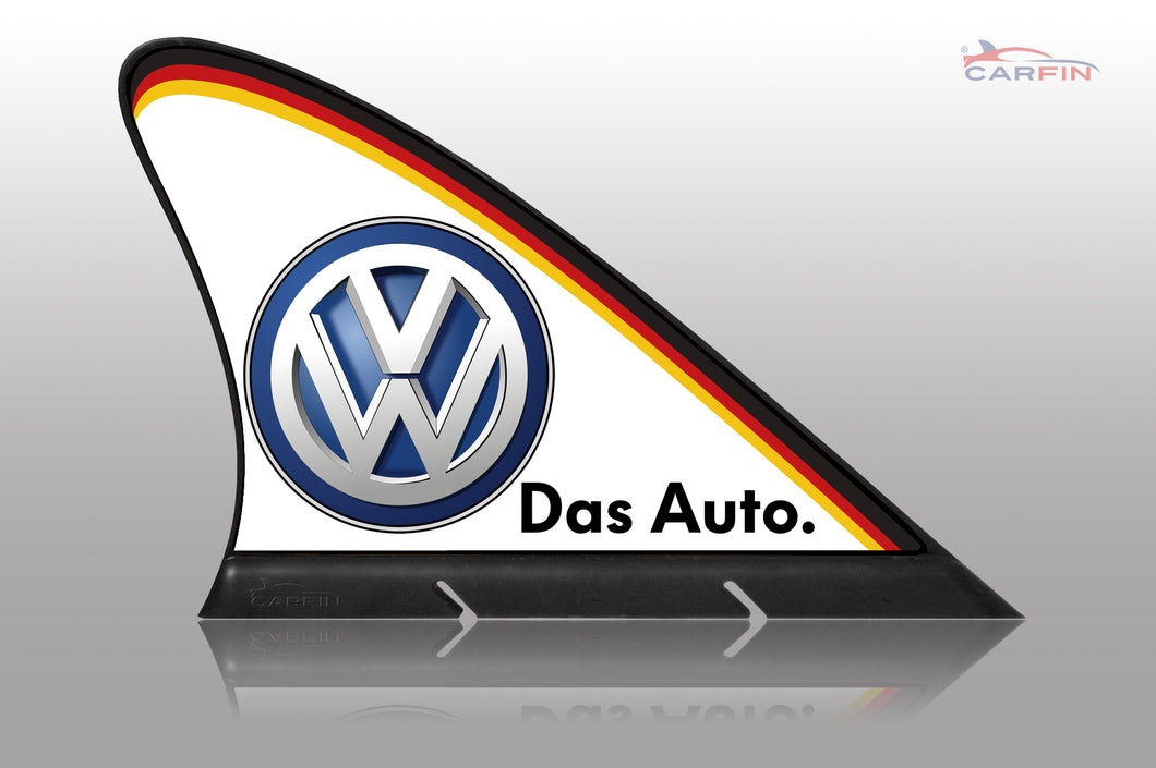 Volkswagen Car Flag CARFIN , Magnetic Car signs.