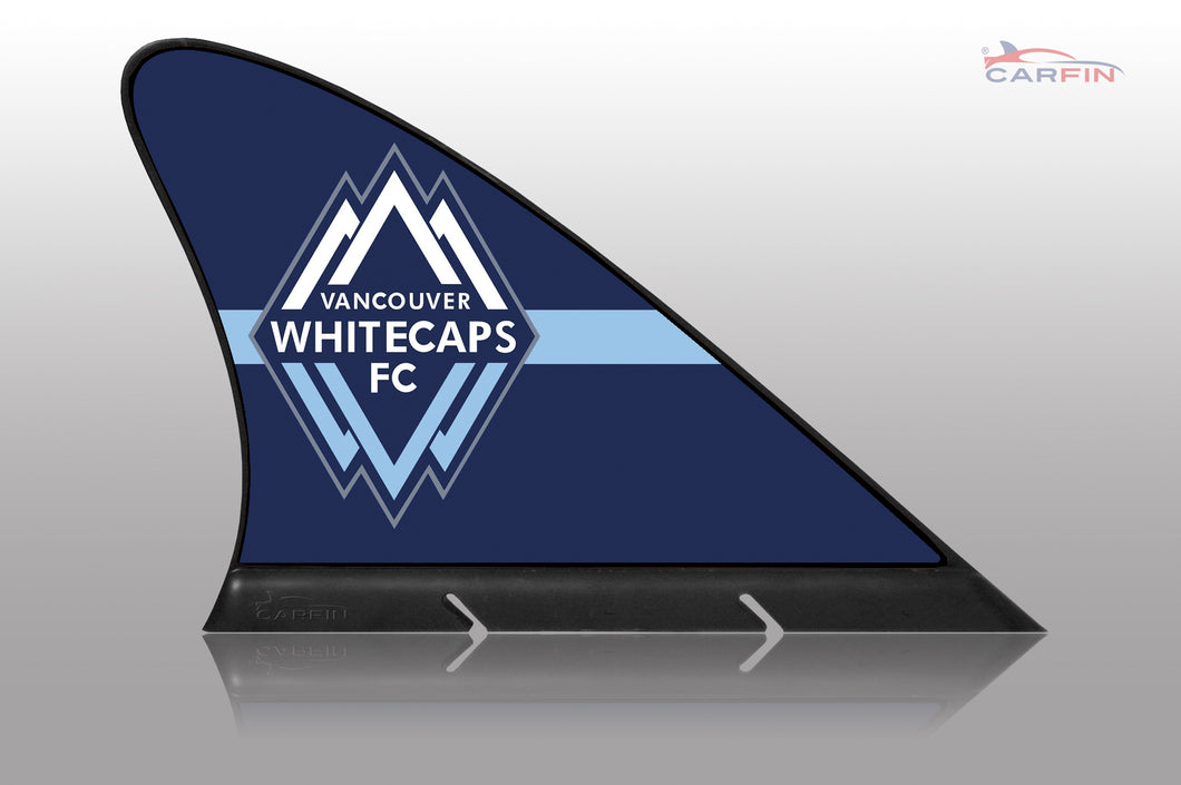 Vancouver Whitecaps FC Car Flag, CARFIN  Magnetic Car Flag.