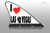 I Love Las Vegas Car Flag CARFIN , Magnetic Car signs. - Carfin