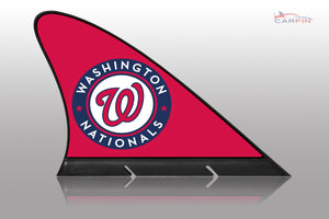 Washington Nationals Car Flag, CARFIN  Magnetic Car Flag. - Carfin