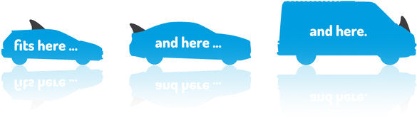 "Lyft/Uber Magnetic Car Sign White, Carfin Sign ""REFLECTABLE"" - Carfin"