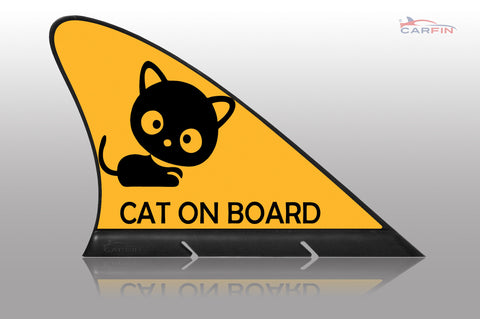 Cat on Board Car Flag CARFIN , Magnetic Car signs. - Carfin