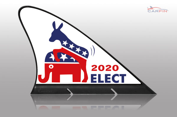 Election 2020 Car Flag CARFIN , Magnetic Car signs.