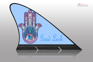 Good luck  Car Flag CARFIN , Magnetic Car signs. - Carfin