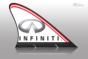 Infiniti Car Flag CARFIN , Magnetic Car signs.