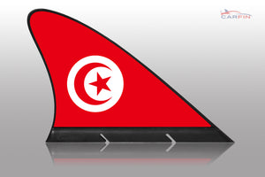 Tunisia  Car Flag CARFIN , Magnetic Car flags and signs. - Carfin