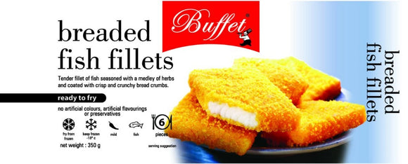 Breaded Fish Fillet 350g Buffet