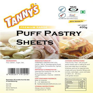 Puff Pastry 500g Tannys
