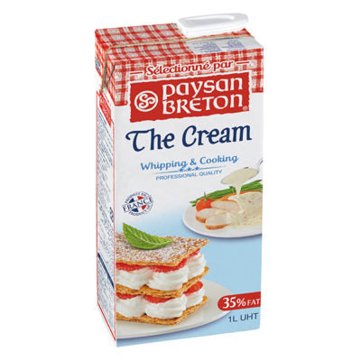 Paysan Bretton UHT Whipping Cream 35.1% Fat 1lt